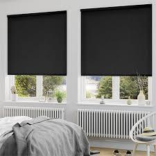 Sevilla Tranquility Black Blackout Roller Blind  Sevilla Rollers Window Blinds Blackout