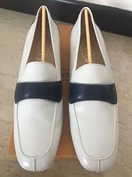 tod s women leather loafers white with signature blue next30 women s fashion shoes flats sandals on carou