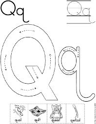 Alphabet Letter Q Worksheet | Standard Block Font | Preschool ...