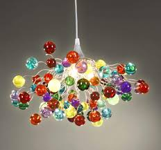 multicoloured chandelier ceiling light colorful lamps hanging