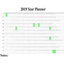 1 X 2019 Maxi Wall Calendar Poster Staff Holiday Chart Plan Wall Project Planner Organiser Uk Poster