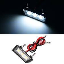 Universal Motorcycle License Plate Light Us 3 67 22 Off 12v Universal Motorcycle License Plate White Led Light Waterproof Motorcycle License Light Lamp Trailer Step Lamp In License Plate