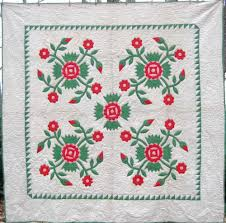 Here's a gorgeous Rose of Sharon appliqué quilt from Lancaster ... & Here's a gorgeous Rose of Sharon appliqué quilt from Lancaster County, PA.  Labeled with Adamdwight.com