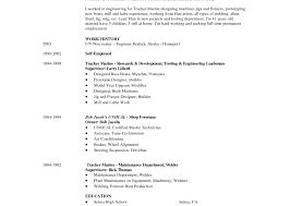 Welding Apprentice Sample Resume Electronics Mechanic Sample