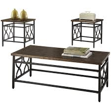 Coffee Table Set Of 3 Three Posts Hartwick 3 Piece Coffee Table Set Reviews Wayfair