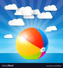 Beach ball in ocean Dreamstime Vectorstock Colorful Beach Ball In The Water Ocean Vector Image