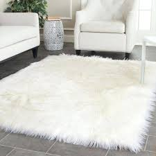 small faux fur rug faux sheepskin area rug home rugs jungle sheep skin rug small white