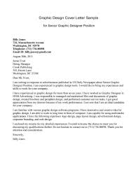 Graphic Design Cover Letter Template The Letter Sample