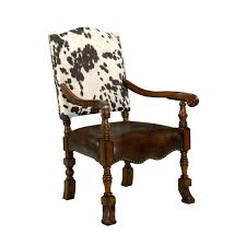 cowhide chair fresh sleek cowhide dining chair mod