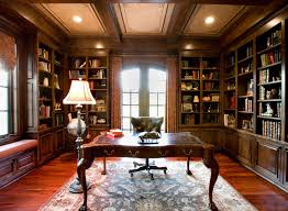 cozy contemporary home office. gallery of contemporary home office with library decor and brown wood wall book shelves also small laminated computer desk added antique white cozy o