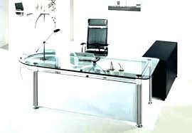 glass desk for office. Glass Top Office Desk Staples Computer For 7