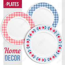 Creative Plate Designs Set Of Three Matching Decorative Plates For Interior Design