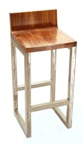 wooden seat bar stools. Interesting High Gloos Wood Seat Metal Bar Stools With Backs And Iron Footrest Wooden 2
