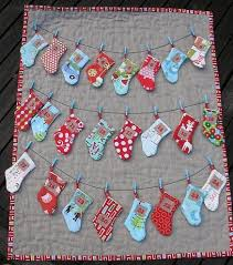 Quilted Christmas Stocking and Tree Skirt Patterns & Craftsy Pattern - Advent Calendar with Stockings Adamdwight.com