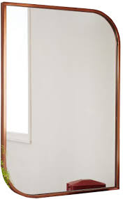 framed modern mirror. Clever Design Metal Framed Wall Mirror Rose Gold Decorist Modern