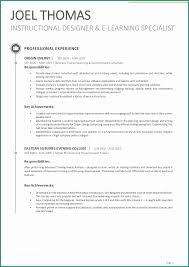 Instructional Designer Resume Beauteous Instructional Designer Resume And Instructional Coordinators Cover
