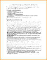Performance Appraisal Examples Sampleperformanceappraisalform Png