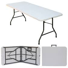 sy 6 x 2 6 blow mold plastic table with steel folding