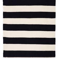 home lifestyle black stripe nantucket indoor outdoor rug