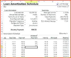 Loan Schedule Excel Template Mortgage Loan Excel Template Threestrands Co