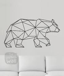 on geometric bear wall art with geometric bear wall decal geometric animals decor bear wall