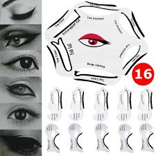 details about 6 in1 quick eyeliner stencil 10 cat eyeshadow guide smokey makeup template tool