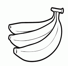 banana clipart black and white. printable bananas coloring pages - high quality banana clipart black and white