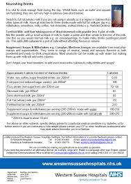 Perkins Calorie Chart Oral Nutritional Supplements Formulary For Adults Pdf