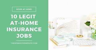 10 Reputable Companies Offering Work At Home Insurance Jobs
