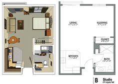 Small Studio Apartment Floor Plans Floor Plans Garage Studio