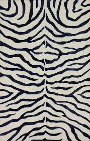 royal blue rug. Rugs USA Safari Contemporary Handmade Viscose Zebra Royal Blue Rug