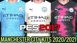PES 2017 | MANCHESTER CITY KITS 2020/2021 | UNOFFICIAL VERSION | DOWNLOAD &  INSTALL - YouTube