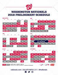 Nationals release 2018 schedule