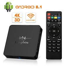 2018 Version]Android TV Box Kingbox Model X Android 8.1 TV Box With IR  Remote Control 2.4G/5G WiFi H.265 4K*2K HD 3D Media Box|android tv box