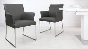 dining chairs leather uk. dark grey real leather dining armchair chairs uk r