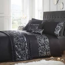 Grace Black Quilt Cover Sets   Luxury Sequin Detail & grace black-quilt cover sets Adamdwight.com