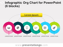 Org Chart In Powerpoint Infographic Org Chart For Powerpoint 6 Blocks Powerpoint