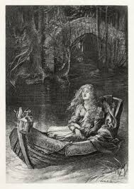 the lady of shalott by william holman hunt fallen w to  english illustration to tennyson s