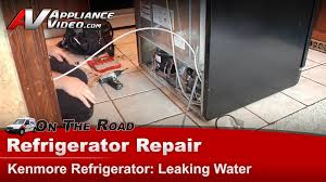 sears kenmore whirlpool maytag refrigerator repair diagnostic leaking water on floor you