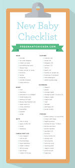 Baby Stuff Checklist New Baby Checklist What To Get When Expecting Baby