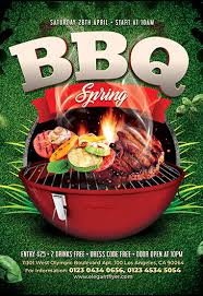Barbecue Flyers Spring Bbq Psd Flyer Template Facebook Cover Instagram Post