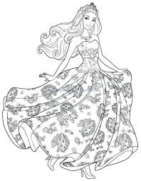 Barbie Doll Coloring Pages Cartoon Printable Print Porongurup