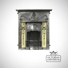 Decorative Tiles For Fireplace Valentine Victorian style cast iron fireplace with decorative tiles 45