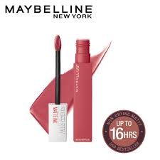 Maybelline 24 Hour Lipstick Colour Chart Maybelline New York Super Stay Matte Ink Liquid Lipstick 225 Delicate 5 G