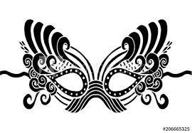 Bohemian Festive Masks Decorative Vector Mask Silhouette For Adult