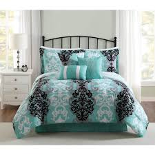 studio 17 downton black grey aqua 7 piece full queen comforter set ymz006449 the home depot