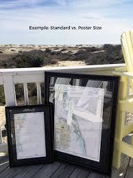 Framed Nautical Maps Framed Nautical Map 12280 Chesapeake Bay
