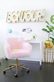 glam office chair. Brilliant Office Glam DIY Office Chair Makeover With Faux Fur To L