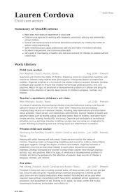 Child Care Resume Template 64 Images Child Care Provider Resume