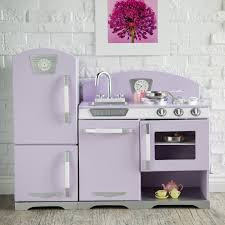 Kid Craft Retro Kitchen Kidkraft 2 Piece Lavender Retro Kitchen And Refrigerator 53290